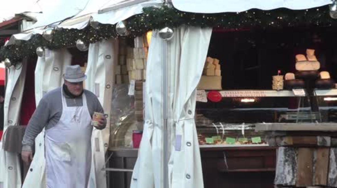 Germany: Berlin's Gendarmenmarkt market re-opens following day of mourning