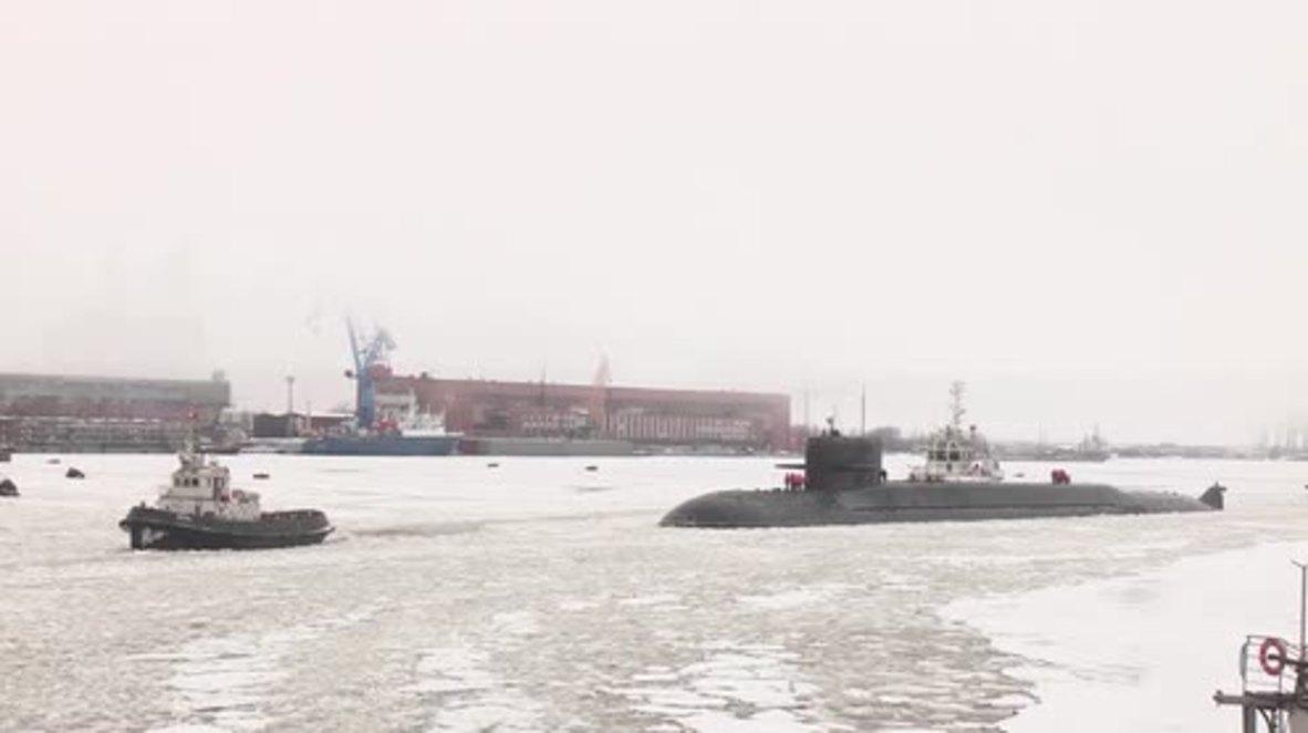 Russia: Podmoskovye nuclear submarine joins Northern Fleet in Severodvinsk