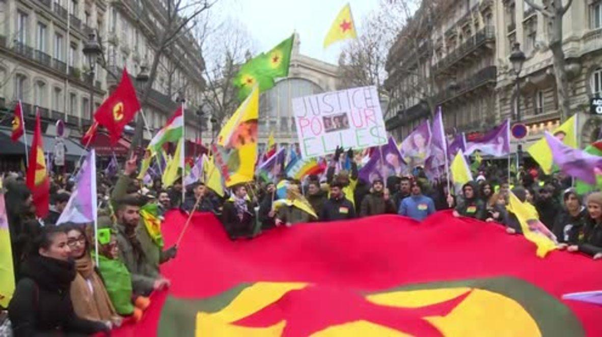 France: Thousands pay tribute to Kurdish women activists slain in Paris