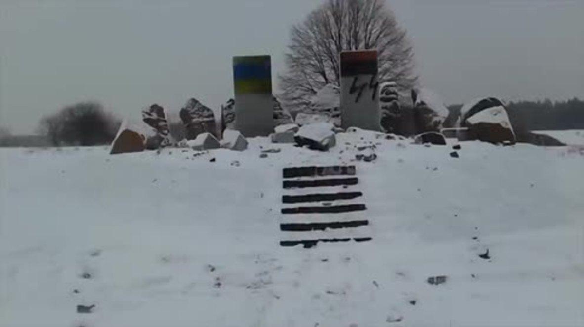 Ukraine: WWII memorial honouring Polish victims vandalised in Lviv