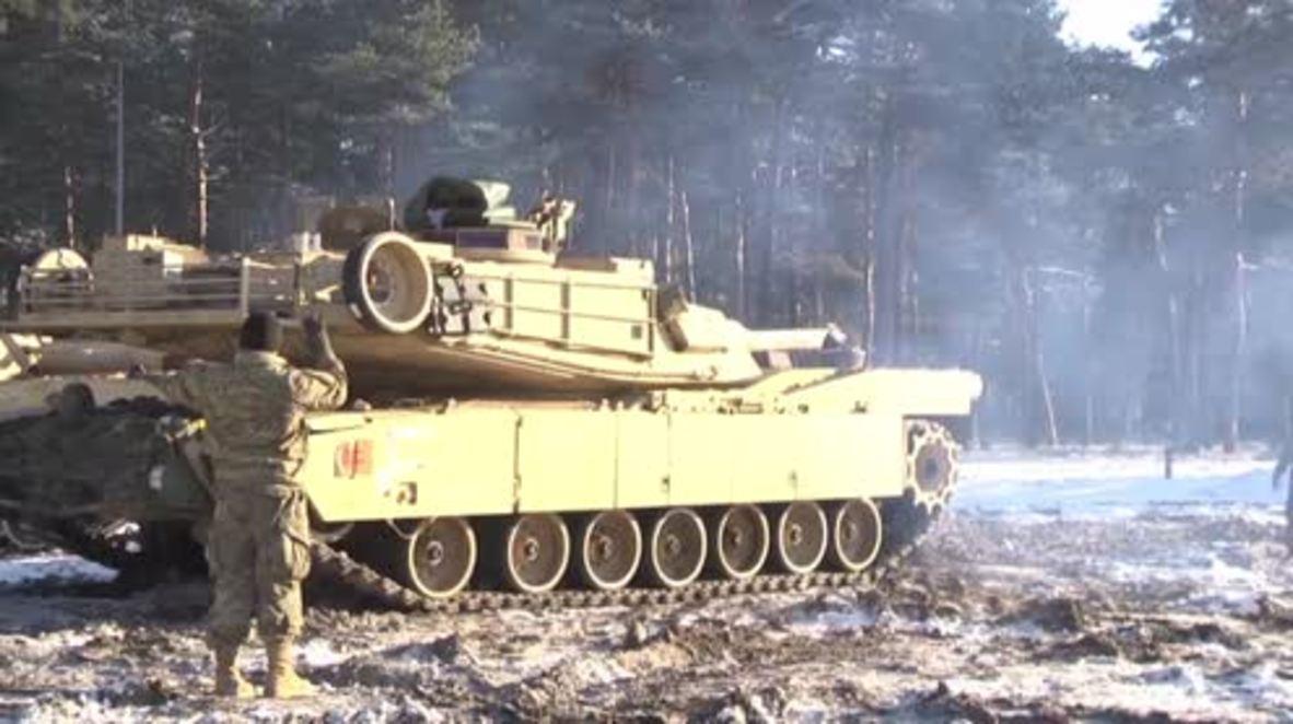 Poland: US tanks arrive in Zagan ahead of NATO drills