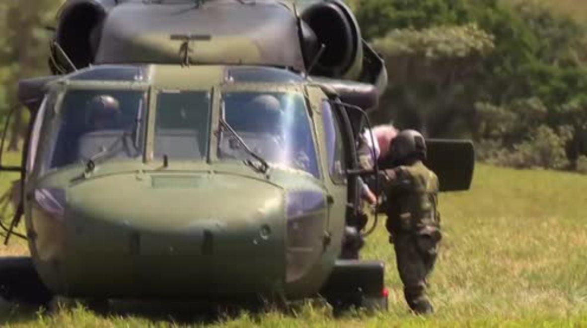 Colombia: Steinmeier visits FARC disarmament zone camp