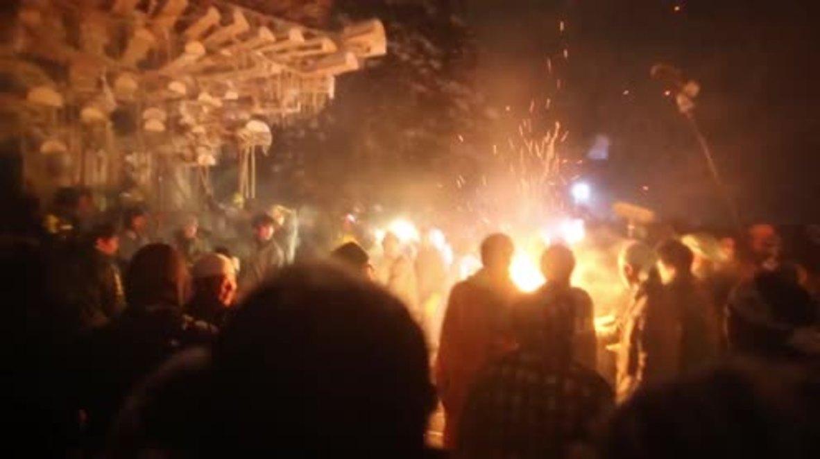 Japan: Stunning fire festival lights up Nagano's night sky