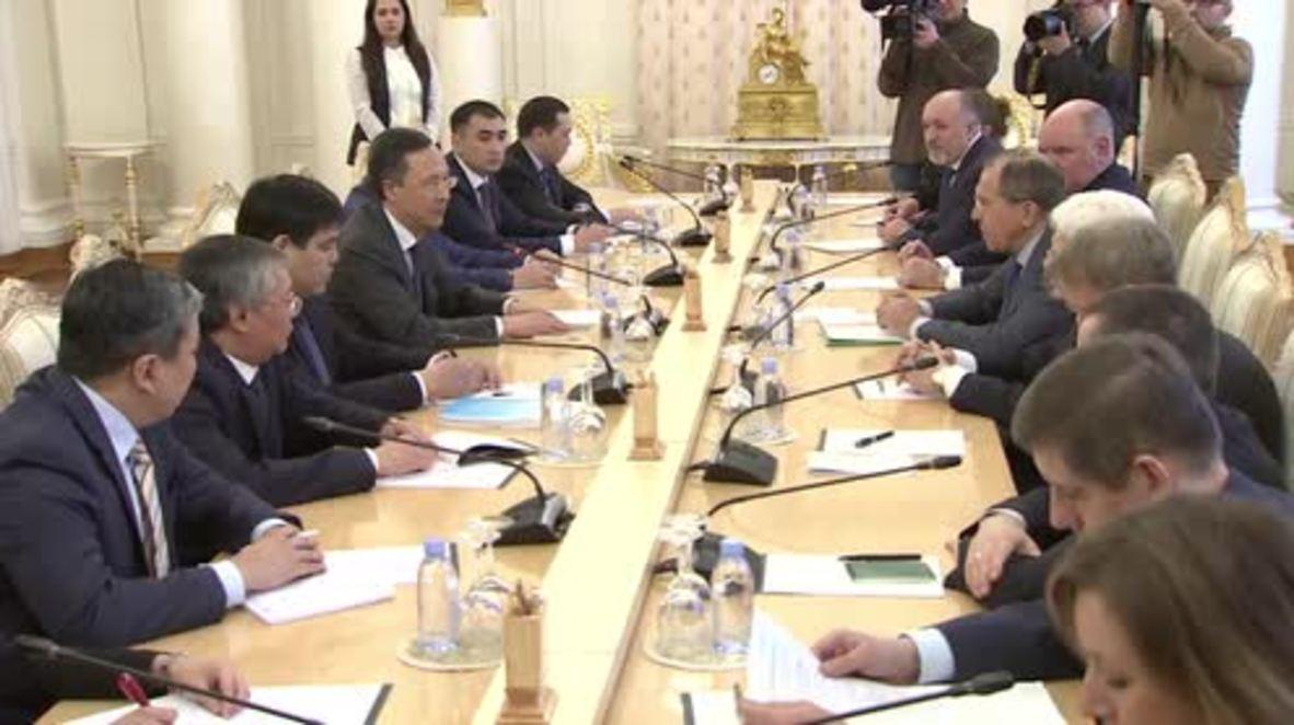 Russia: Lavrov and Kazakh FM discuss final preparations for Astana peace talks