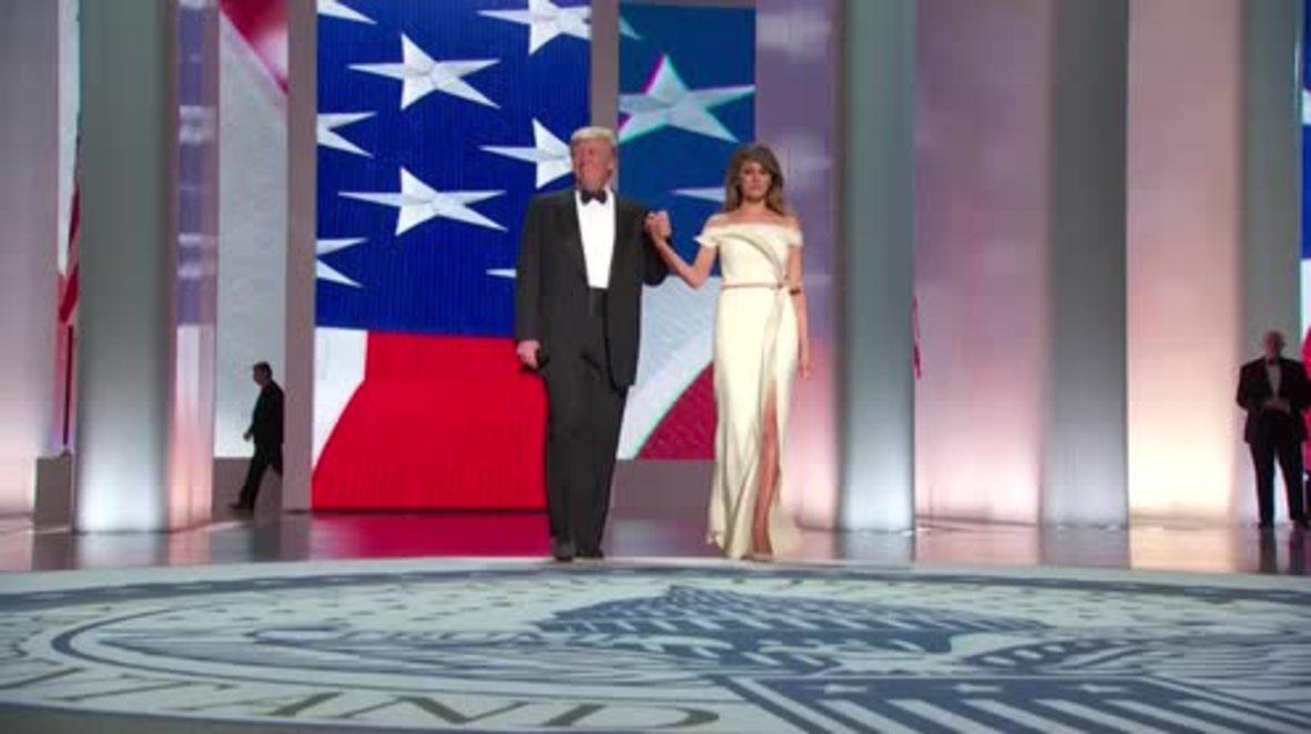 USA: Trump and Melania dance to 'My Way' at inaugural ball