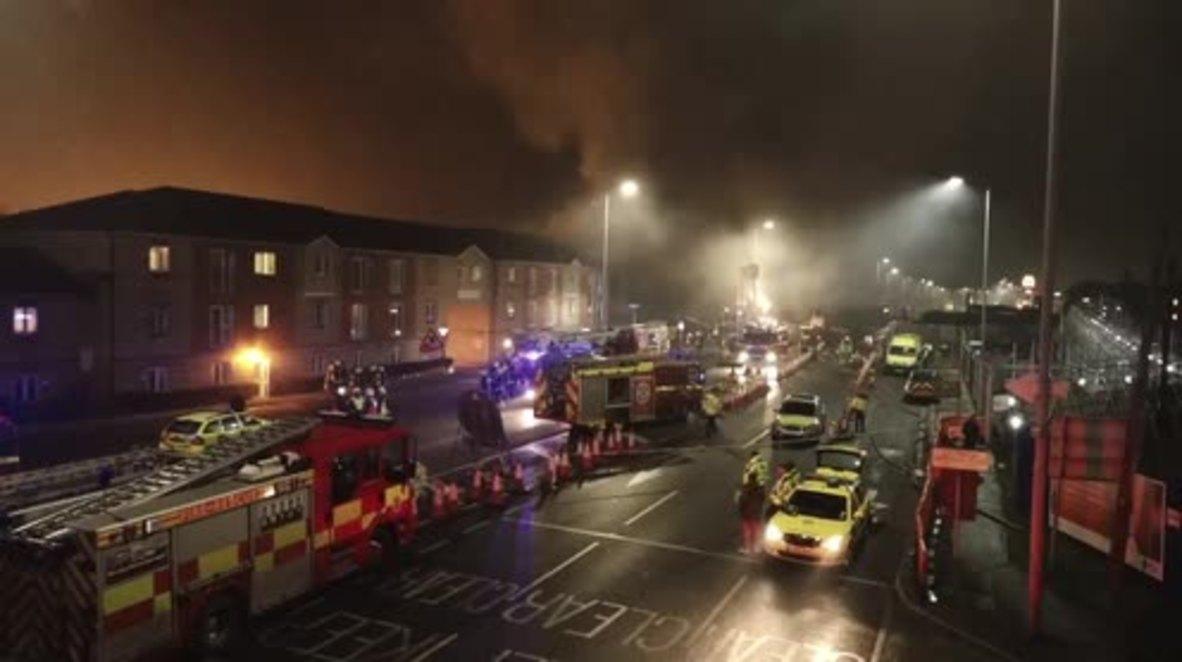 UK: Explosion rocks block of flats in London