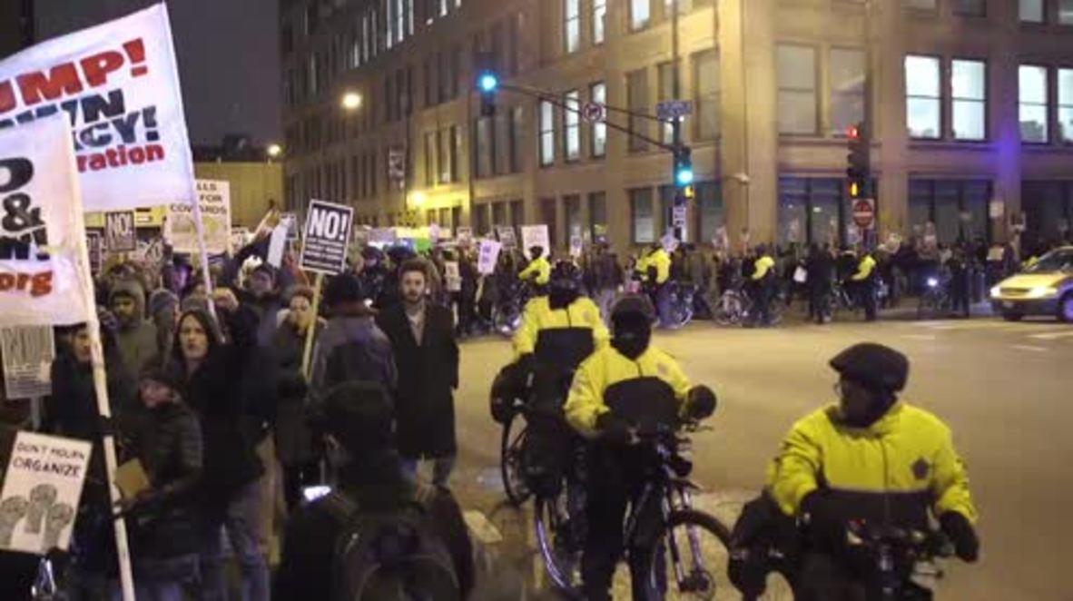 USA: Chicago Muslims lead anti-Trump demo, decry 'racist' immigration crackdown