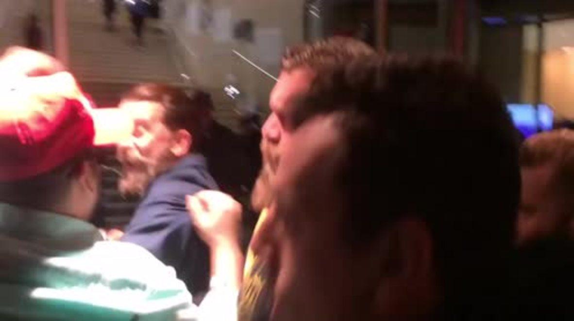 USA: Violence erupts as antifa picket Vice co-founder Gavin McInnes' NYU event