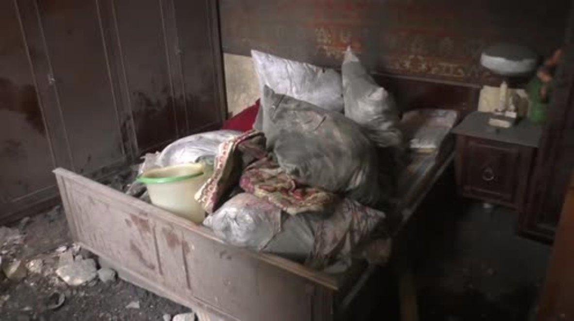 Ukraine: Residents view extensive damage following heavy shelling in Donetsk