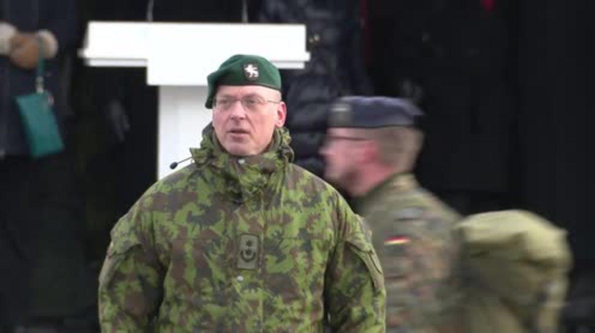 Lithuania: President Grybauskaite and German DefMin welcome NATO battalion