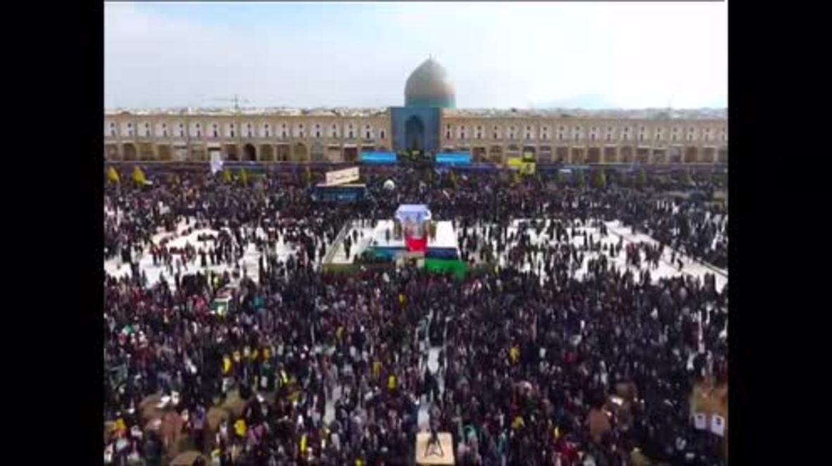 Iran: Hundreds of thousands celebrate Islamic Revolution's 38th anniversary