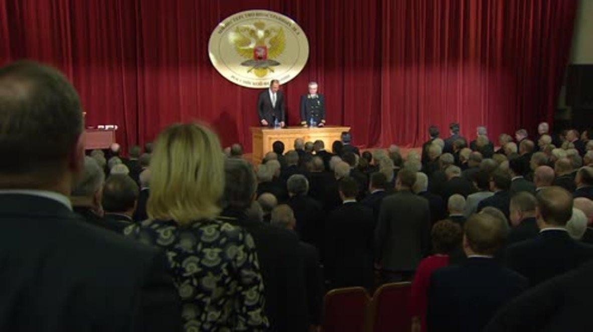 Russia: Lavrov honours slain diplomats during ceremony