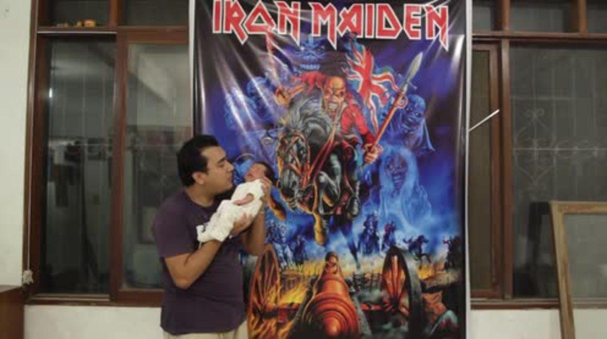 Bolivia: Rocker parents name baby 'Iron Maiden'