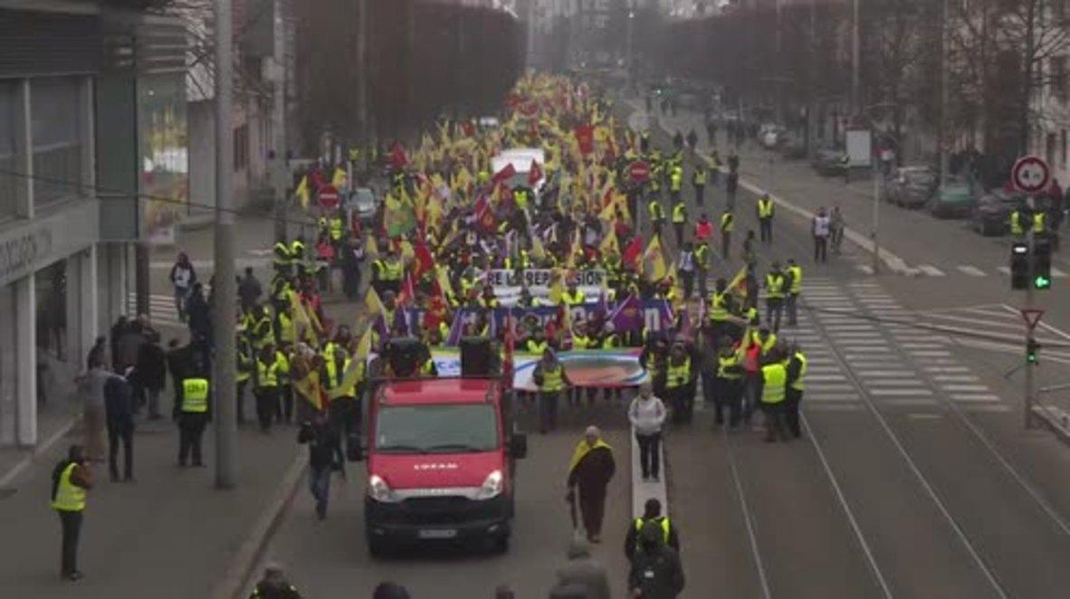 France: 15,000 Kurds march in Strasbourg for the release of PKK leader Ocalan