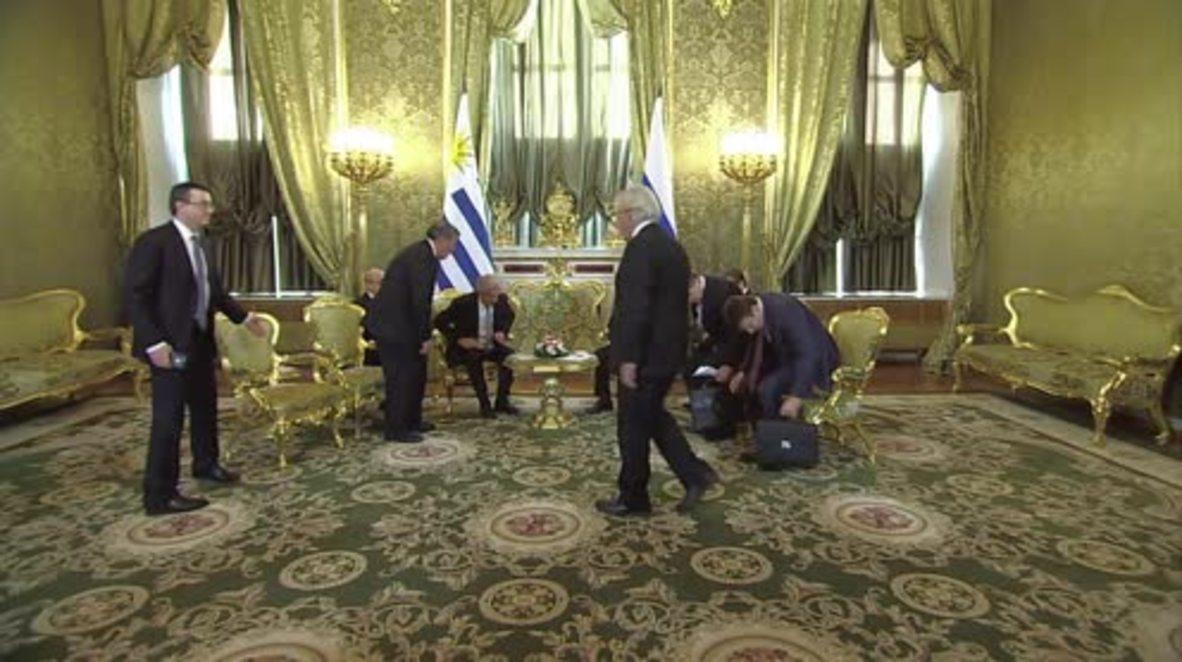 Russia: Putin meets Uruguay's President Vazquez in Moscow