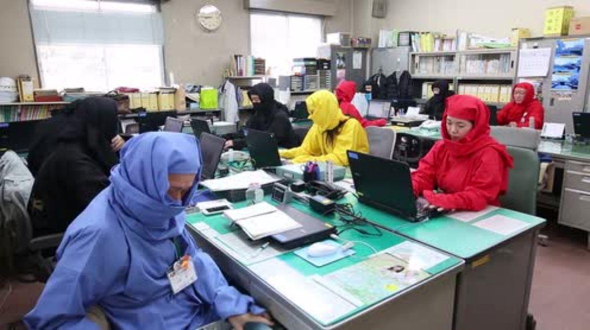 Japan: City hall workers dress up as ninjas for National Ninja Day in Koka