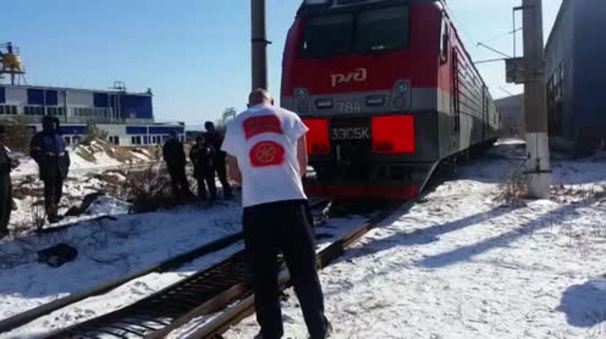 Russia: Strongman Savkin pulls 288 tonne train setting new world record