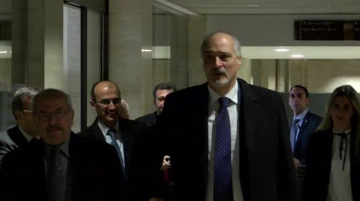 Switzerland: Jaafari and de Mistura continue Syria peace talks in Geneva