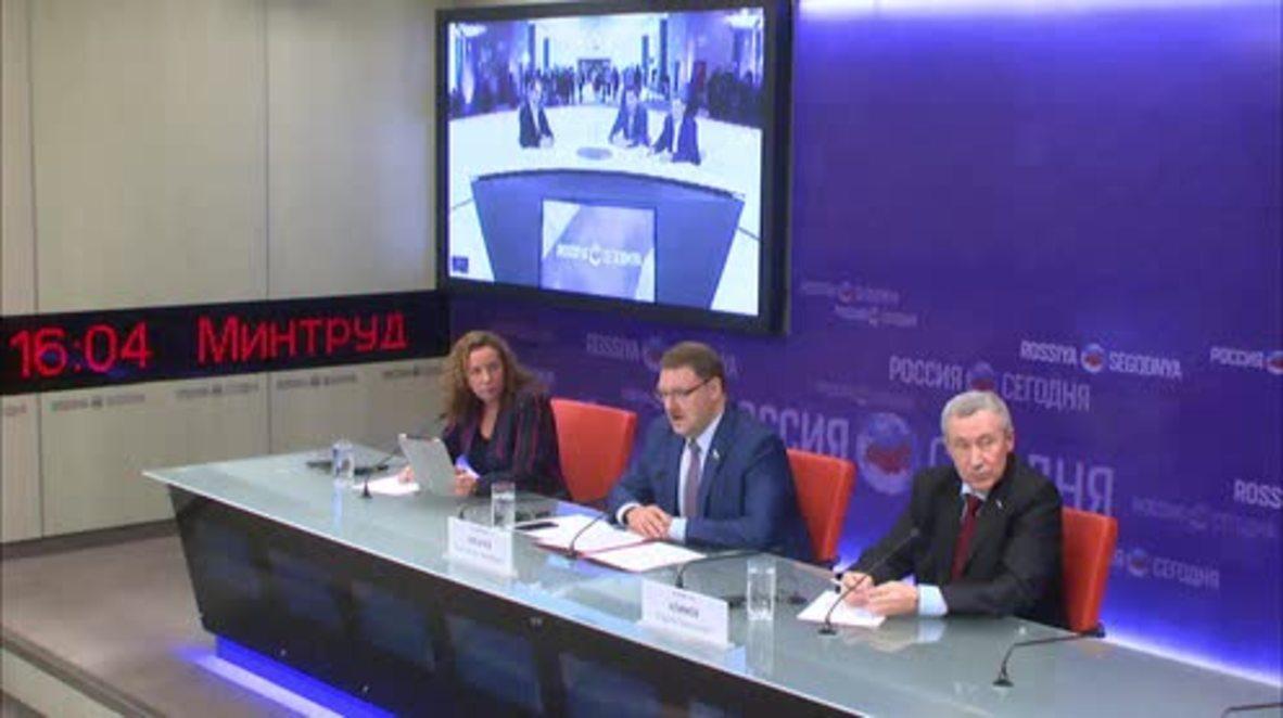 Russia: Federation Council and European Parliament MEPs praise Astana talks