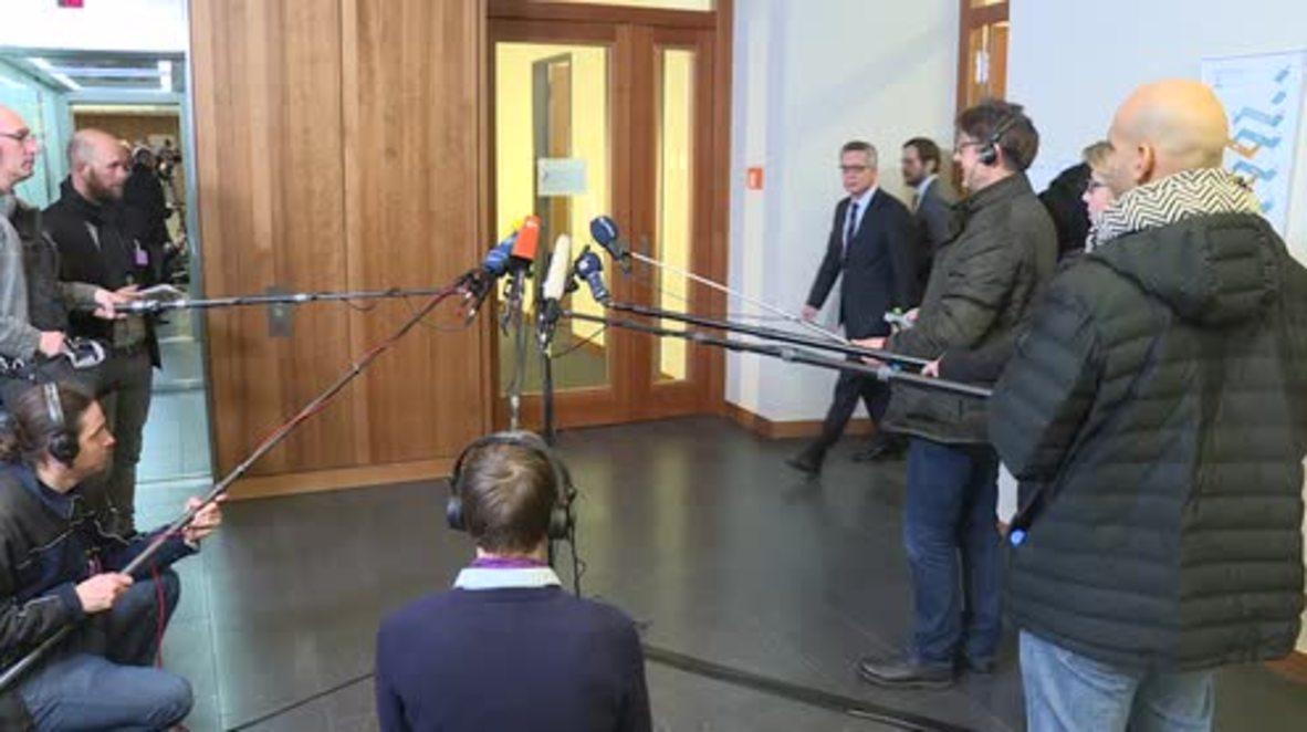 Germany: De Maiziere discusses federal anti-terror drills
