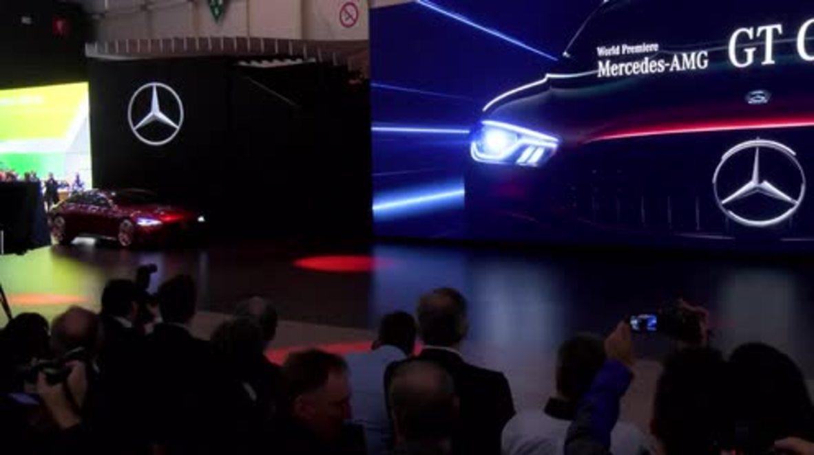 Switzerland: Mercedes AMG concept car presented at Geneva Motor Show