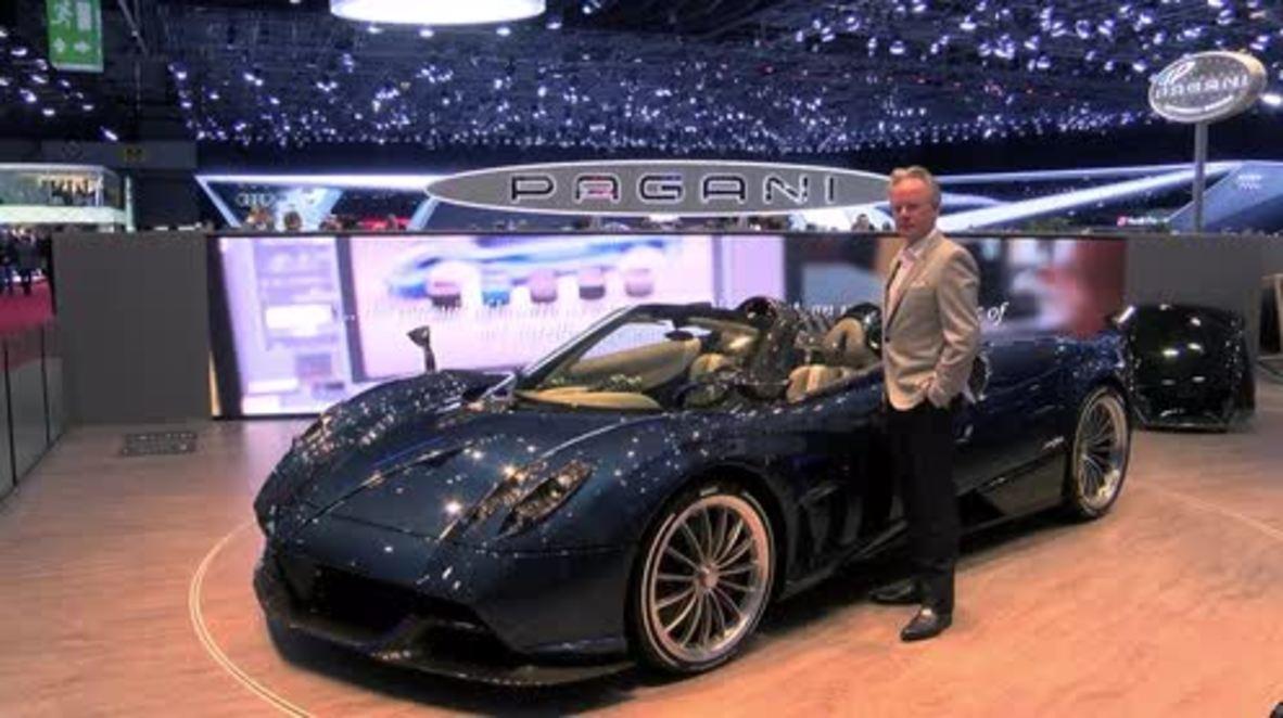 Switzerland: Pagani showcases Huayra Roadster supercar at Geneva Motor Show