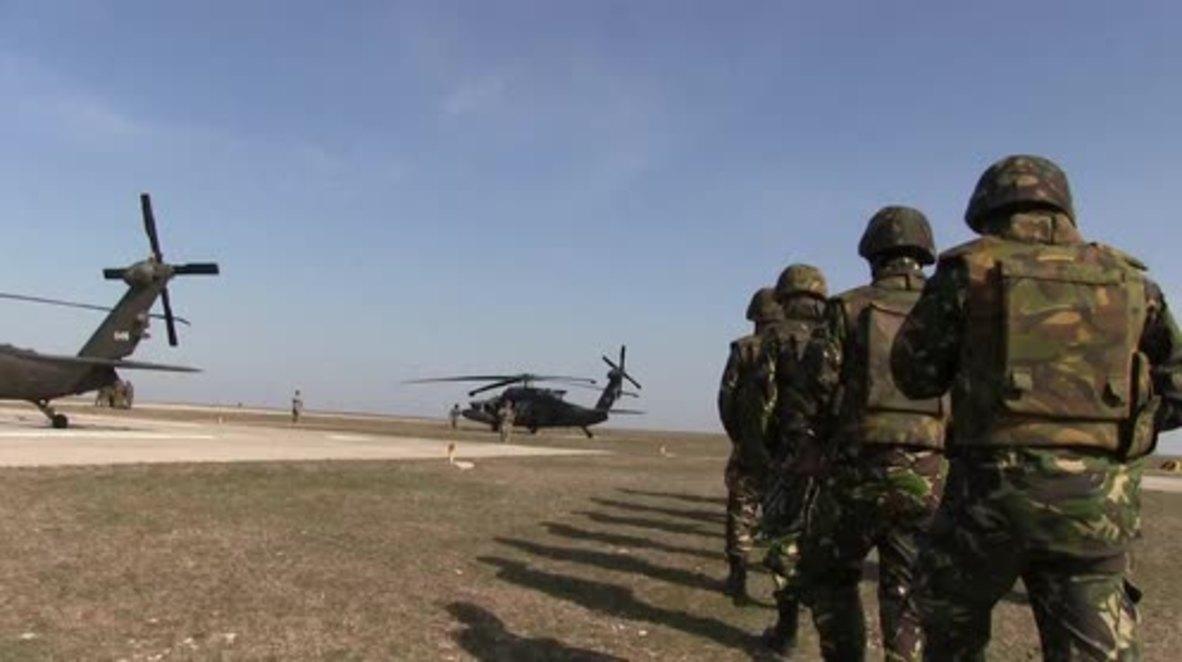 Romania: US deploys Black Hawk helicopters for NATO drills
