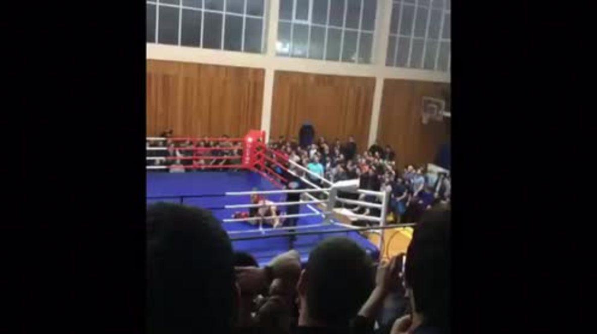Russia: 40-man brawl breaks out at MMA fight in Dagestan