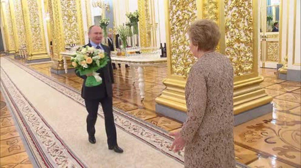 Russia: Putin congratulates Naina Yeltsina on her 85th birthday
