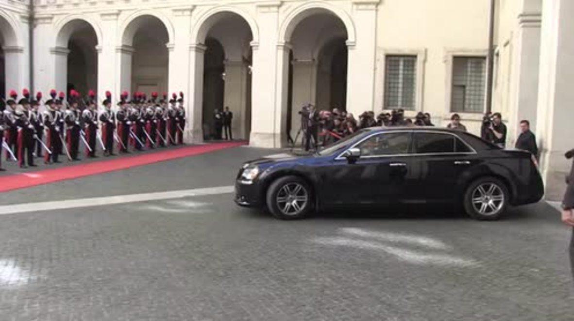 Italy: Al-Sarraj meets Gentiloni in Rome