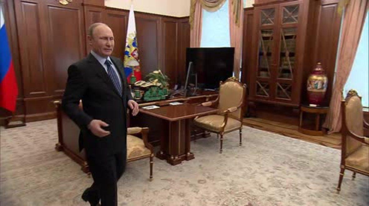Russia: Putin meets Russia's Chief Mufti Tadzhuddin in Moscow