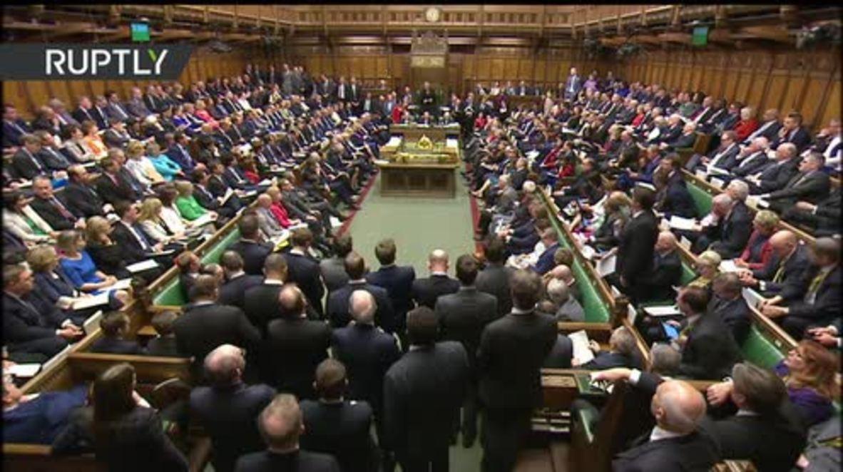 UK: Theresa May formally triggers Brexit process