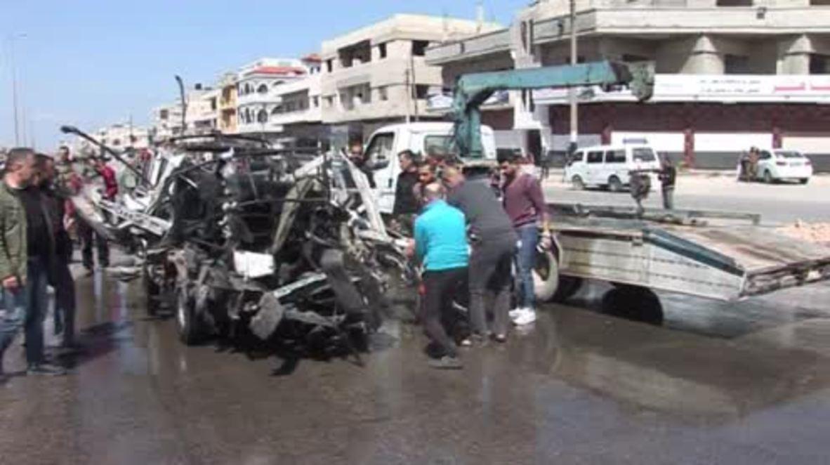 Syria: Multiple casualties as bomb blast destroys minibus in Homs