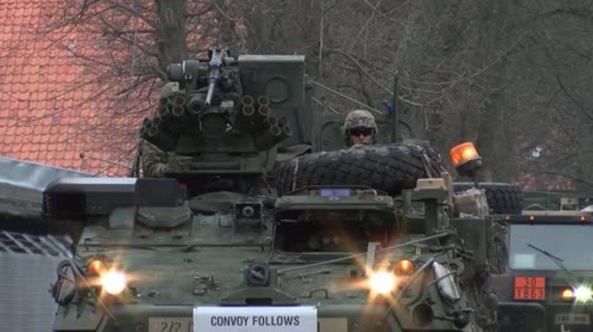 Poland: US-led NATO battle group arrives in Poland for deployment