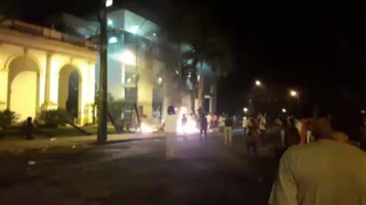 Paraguay: Protesters storm Congress following secret constitutional reform vote