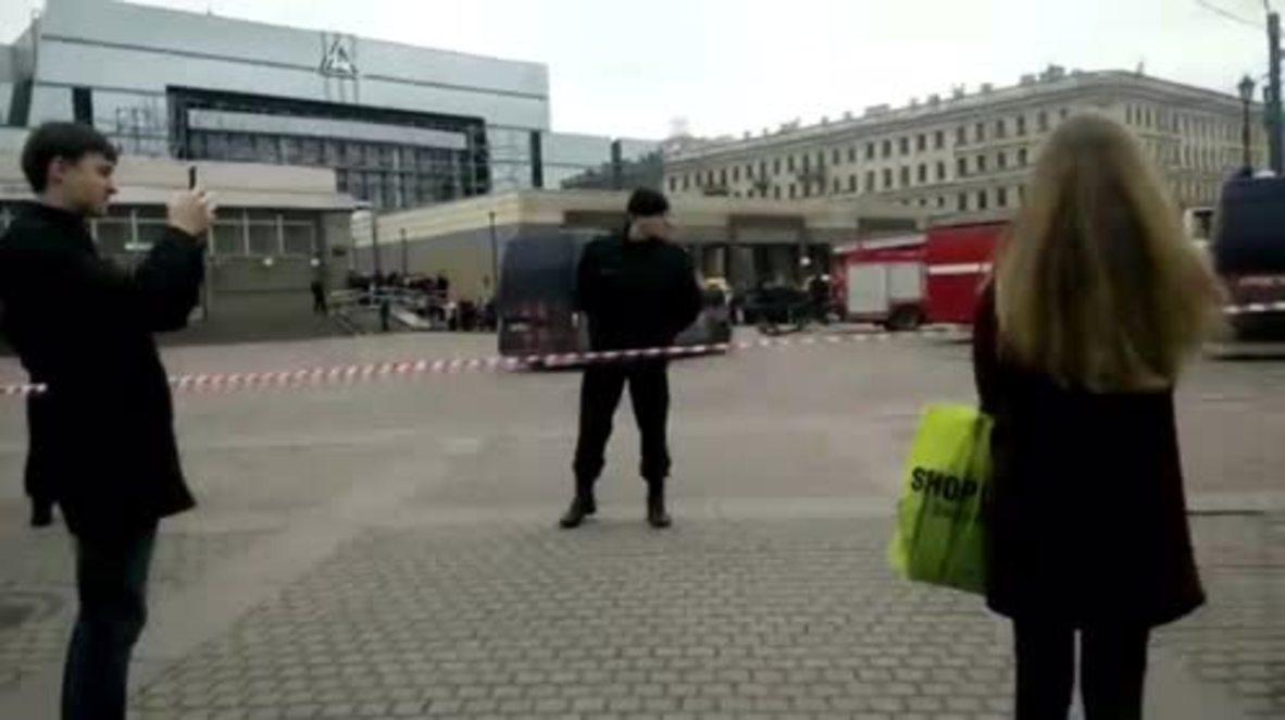 Russia: Passer-by recounts blast in St. Petersburg metro station