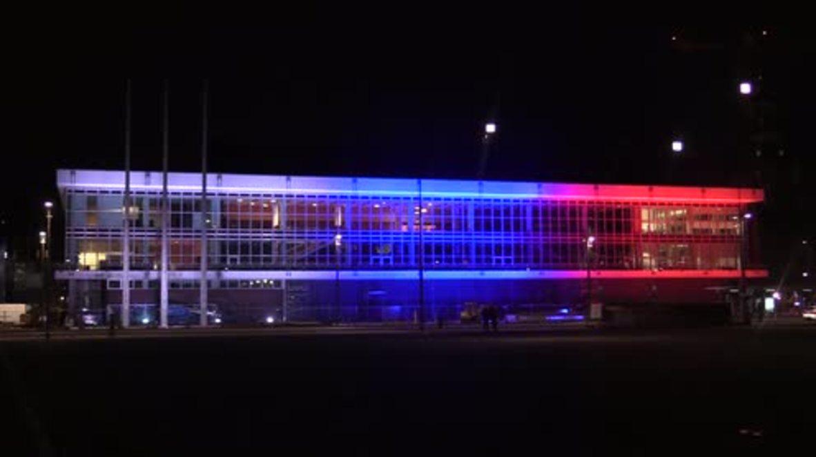 Germany: Dresden landmark lit up in honour of St. Petersburg victims