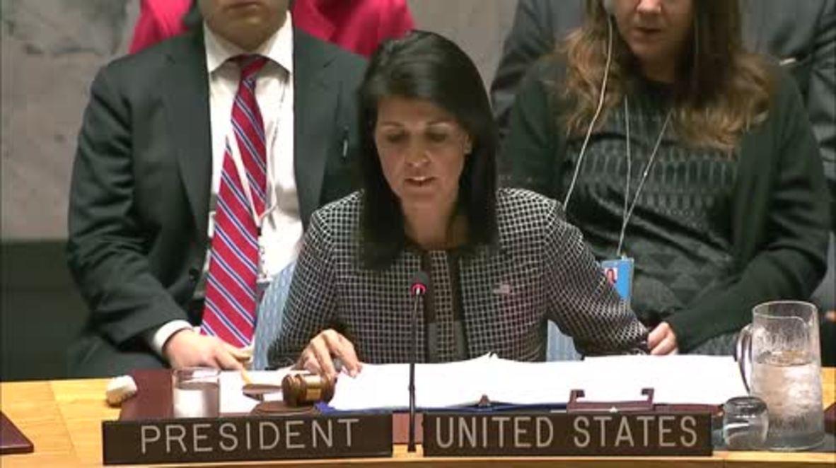 UN: Russia calls for impartial investigation on Syria chemical attack