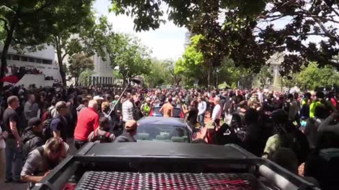 USA: Berkeley pro-Trump rally descends into violence