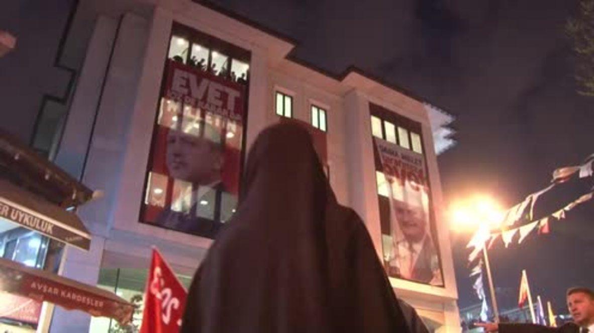 Turkey: Erdogan supporters celebrate referendum victory in Istanbul