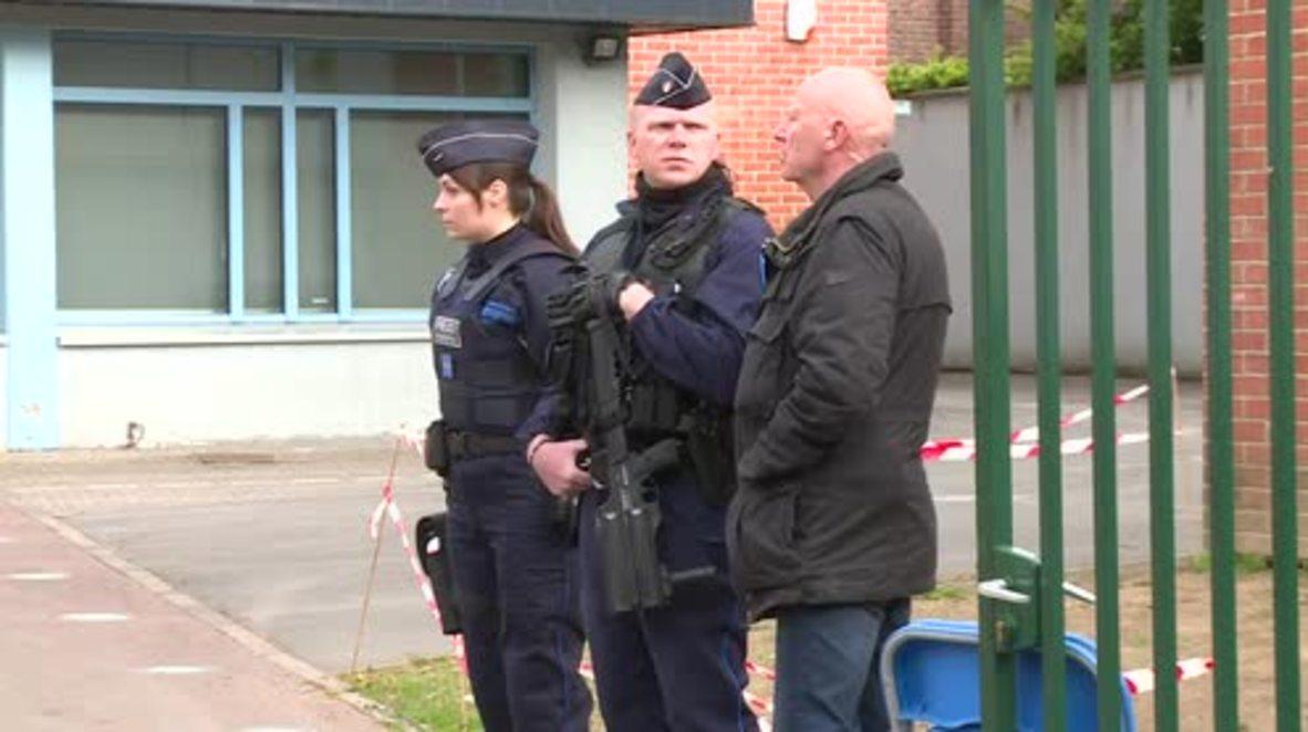 France: Voters met by armed security ahead of Le Pen's arrival in Henin-Beaumont