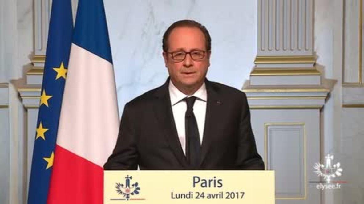 France: 'I will vote for Emmanuel Macron' - Hollande