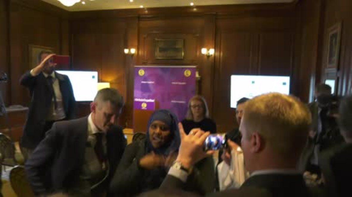 UK: Anti-racism protesters crash UKIP election campaign launch