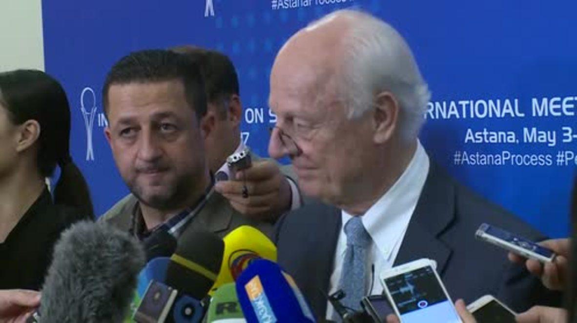 Kazakhstan: De Mistura hails Syria safe zones plan as 'an important step'