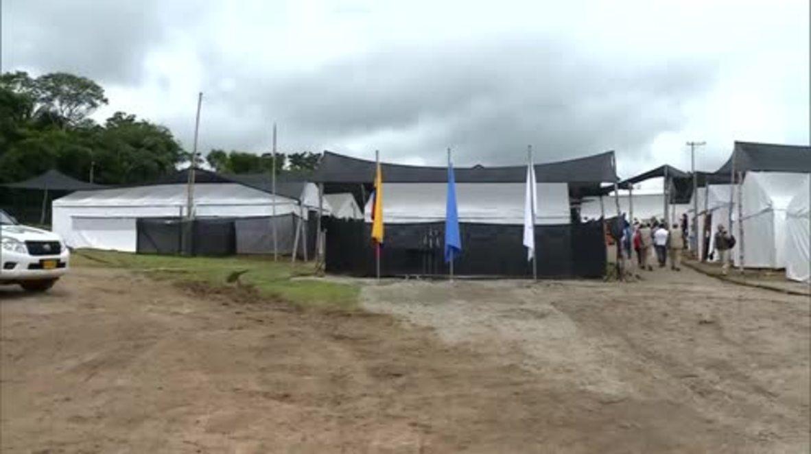 Colombia: UN Security Council delegation monitors FARC disarmament in Vista Hermosa