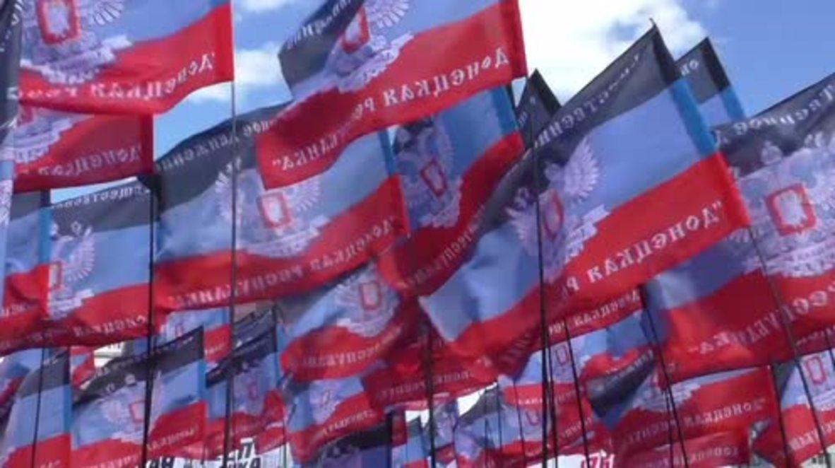 Ukraine: Thousands celebrate 3rd anniv. of DPR's indy ref in Donetsk