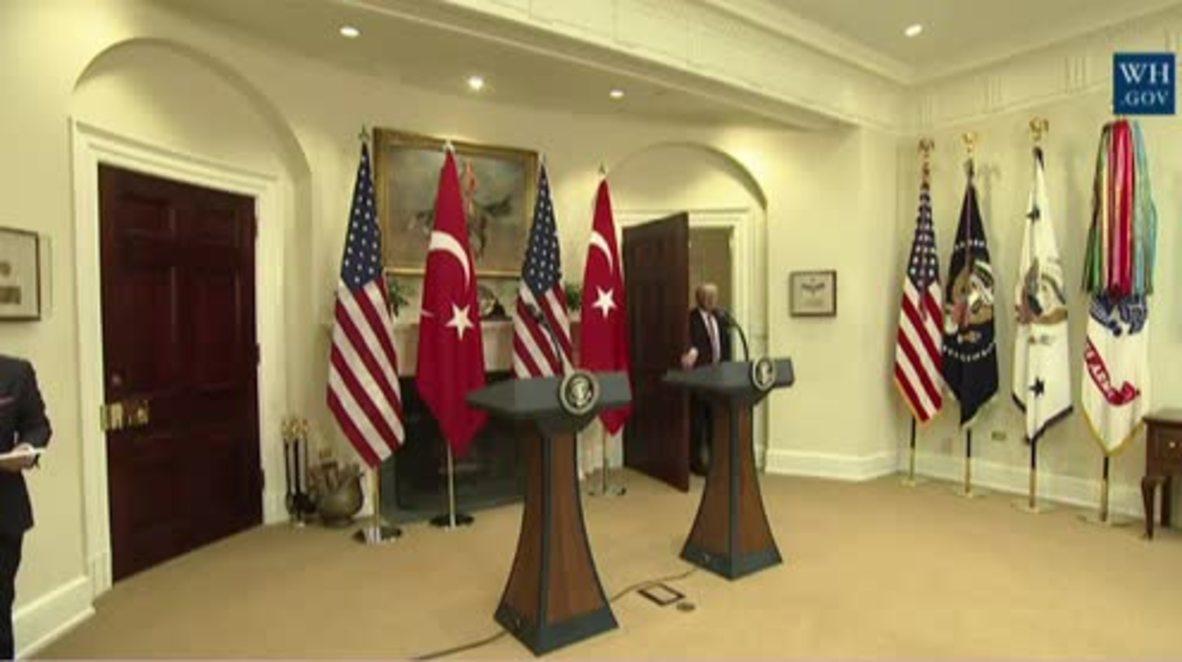 USA: Trump vows support for Turkey against IS and PKK in presser with Erdogan
