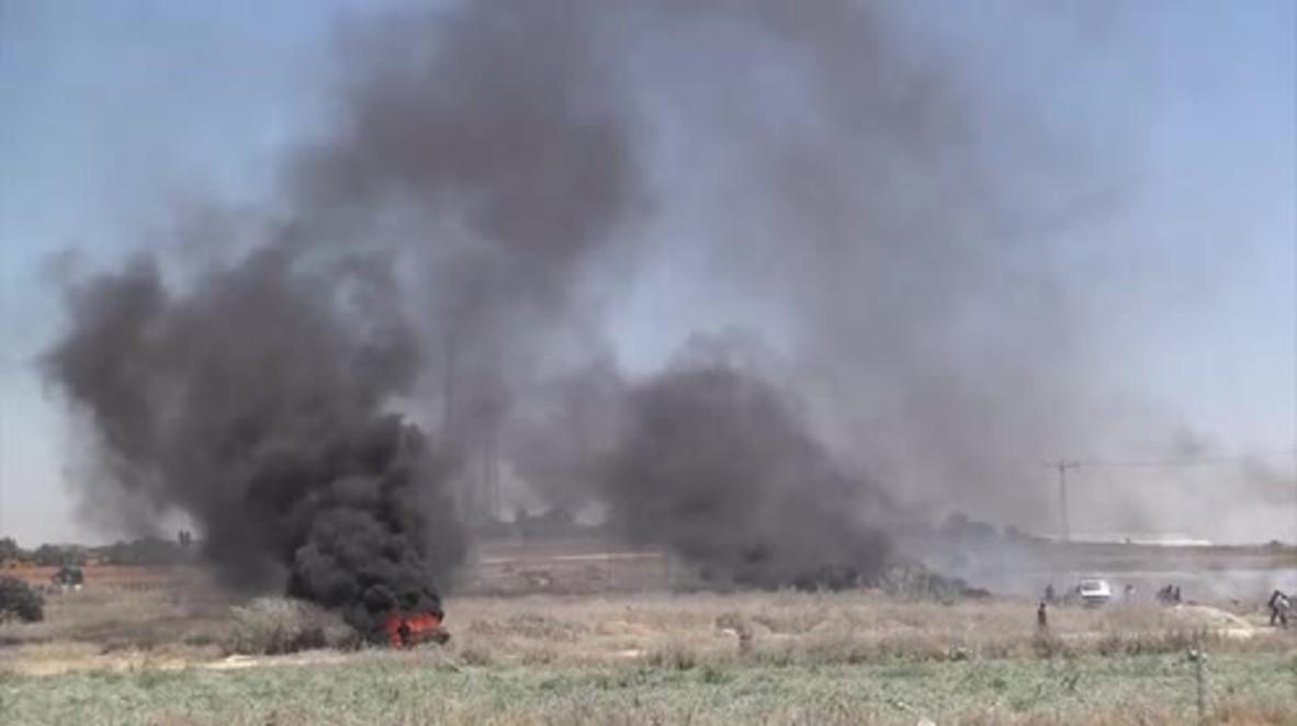 State of Palestine: Black smoke fills the air as hunger strike solidarity demo turns violent in Gaza