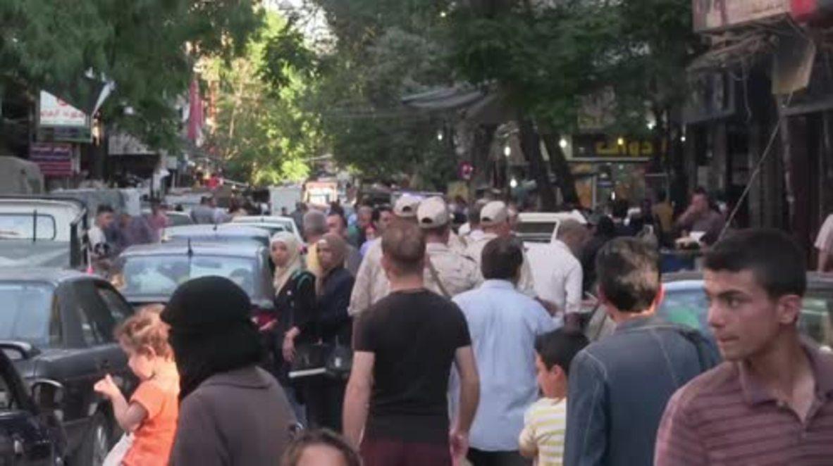 Syria: Aleppo residents celebrate start of Ramadan for first time since gov. retook city