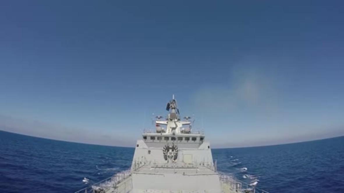 Mediterranean: Russian Navy bombards ISIS positions near Palmyra